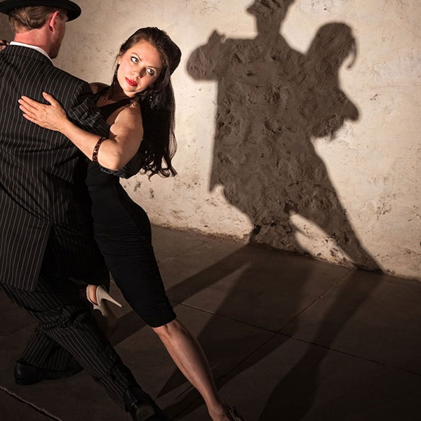 Tango dancers and singers